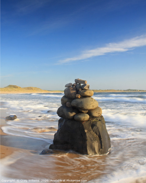 Beach Sculpture, Embleton Bay, Northumberland Framed Print by Craig Williams