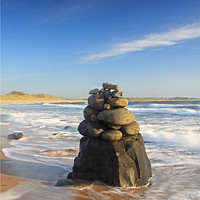 Buy canvas prints of Beach Sculpture, Embleton Bay, Northumberland by Craig Williams
