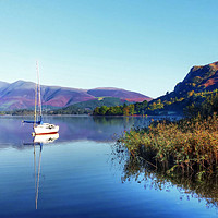 Buy canvas prints of Boat at Derwent Water by Dave Leason