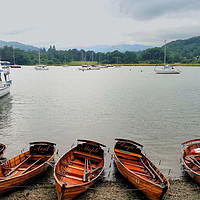 Buy canvas prints of Ambleside Boats by Dave Leason