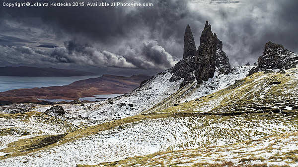 The Old Man of Storr Canvas print by Jolanta Kostecka