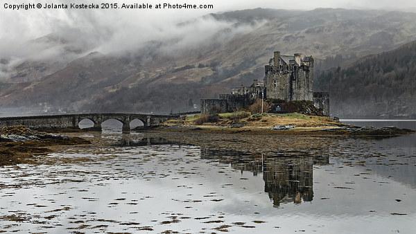 Eilean Donan Castle in misty morning Canvas print by Jolanta Kostecka