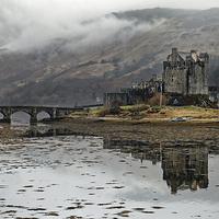 Buy canvas prints of  Eilean Donan Castle in misty morning by Jolanta Kostecka