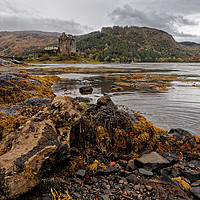 Buy canvas prints of   Eilean Donan Castle in autumn morning by Jolanta Kostecka