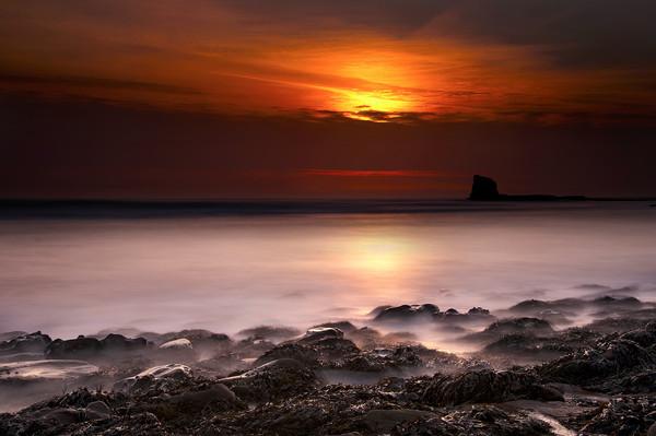 Saltwick Bay Sunrise Canvas print by Svetlana Sewell