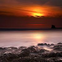 Buy canvas prints of Saltwick Bay Sunrise by Svetlana Sewell