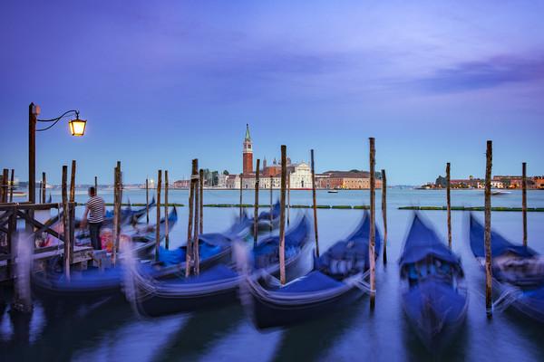 Gondolas in Venice Canvas print by Svetlana Sewell