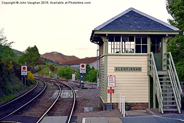 Glenfinnan Station towards Ben Nevis, Fort William Canvas print by John Vaughan