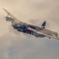 Buy canvas prints of  Lancaster Bomber by Chris Paul