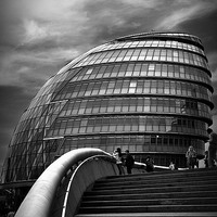 Buy canvas prints of  London City Hall by Len Brook