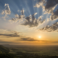 Buy canvas prints of Devil's Dyke Sunset over Sussex and South Downs by Len Brook