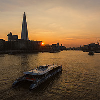 Buy canvas prints of Sunset Cruise on the River Thames by Len Brook