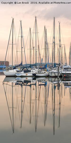 Evening at Shoreham Yacht Club Canvas print by Len Brook