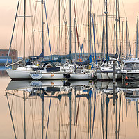 Buy canvas prints of Evening at Shoreham Yacht Club by Len Brook