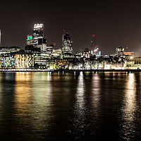 Buy canvas prints of London at Night by Len Brook
