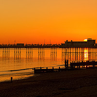 Buy canvas prints of Worthing Pier Sunset by Len Brook