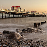 Buy canvas prints of Worthing Pier Evening by Len Brook