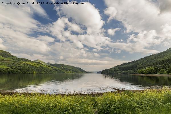 Loch Long Canvas print by Len Brook