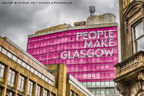 People Make Glasgow Canvas print by Len Brook