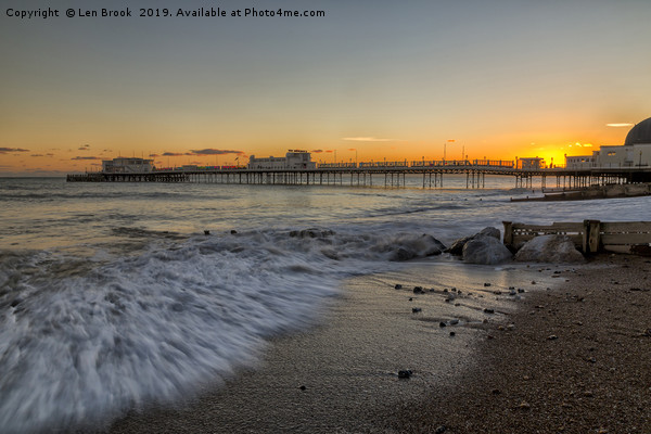 Worthing Pier Canvas print by Len Brook