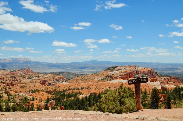 Horse Trail, Bryce Canyon Canvas Print by Megan Chown