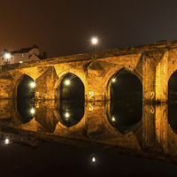 Buy canvas prints of Elvet Bridge in Durham -  Light and reflection by Philip Naylor