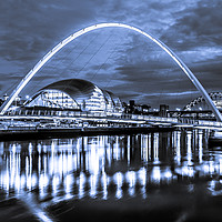 Buy canvas prints of The Millennium Bridge all in Blue by Philip Naylor