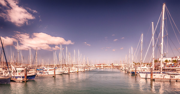 Lanzarote's Beautiful Rubicon Marina  Canvas print by Philips Photography
