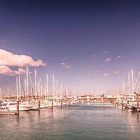 Buy canvas prints of Lanzarote's Beautiful Rubicon Marina  by Philips Photography