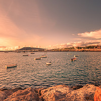 Buy canvas prints of Playa Blanca sun goes down by Philips Photography