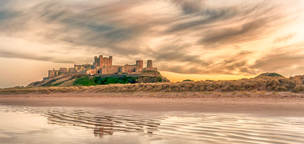 Pretty as a Picture - Bamburgh Castle Canvas print by Philips Photography