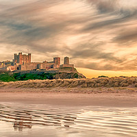 Buy canvas prints of Pretty as a Picture - Bamburgh Castle by Philips Photography