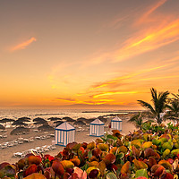 Buy canvas prints of Sun Sets at Playa del Duque by Philips Photography