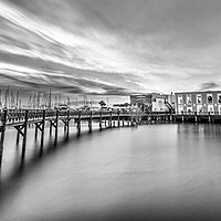 Buy canvas prints of Boardwalk at the Marina Rubicon in Mono by Philips Photography