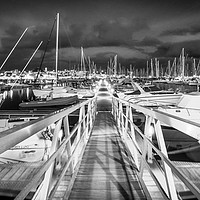 Buy canvas prints of The Pontoon at the Marina Rubicon in Mono by Phil Naylor