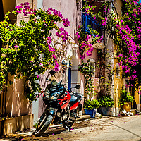 """Buy canvas prints of """"The Bike"""" by Phil Naylor"""
