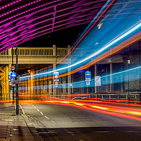 Buy canvas prints of Light Trails High Level Bridge by Phil Naylor