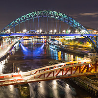 Buy canvas prints of River Tyne Bridges by Phil Naylor