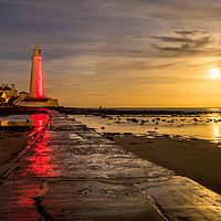 Buy canvas prints of Lovely Supermoon at St Mary's by Phil Naylor