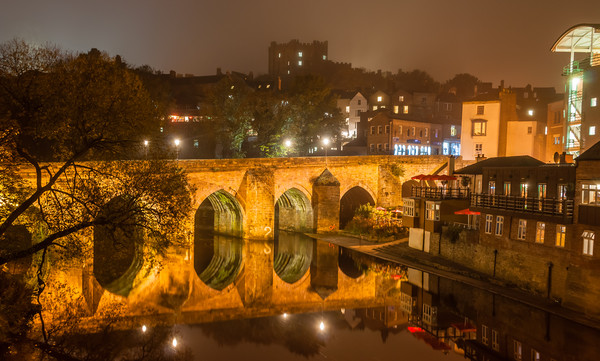 Photo's of Durham - Elvet Bridge Canvas Print by Naylors Photography