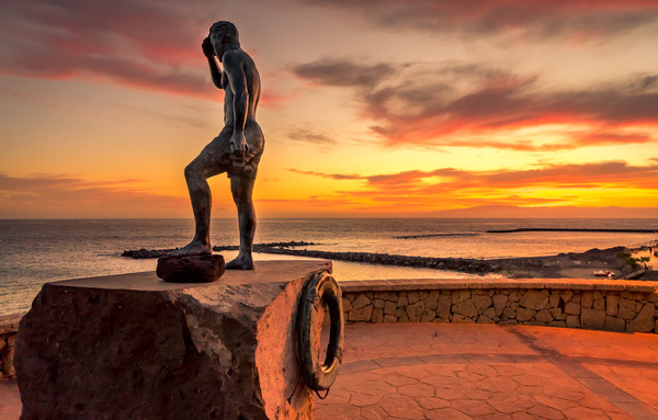 Statue of Javier Perez Ramos  Canvas print by Naylor's Photography