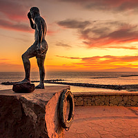 Buy canvas prints of Statue of Javier Perez Ramos  by Naylor's Photography