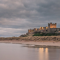 Buy canvas prints of Panoramic Bamburgh Castle by Naylor's Photography