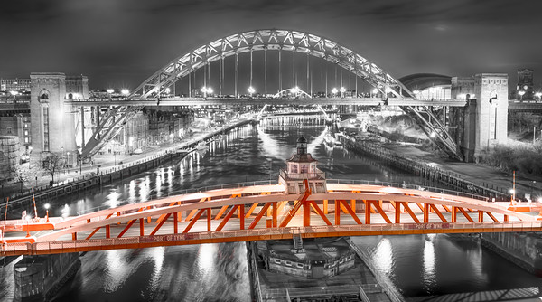 Red Swing Bridge Canvas print by Naylor's Photography