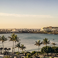 Buy canvas prints of Las Cucharas beach in Costa Teguise by Naylor's Photography