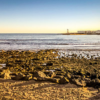 Buy canvas prints of Playa de Las Cucharas in Costa Teguise in Lanzarot by Naylor's Photography