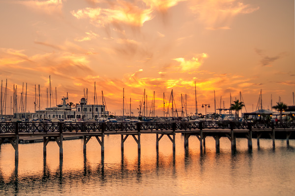 The beautiful sunset at Marina Rubicon Canvas print by Naylor's Photography