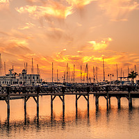 Buy canvas prints of The beautiful sunset at Marina Rubicon by Naylor's Photography