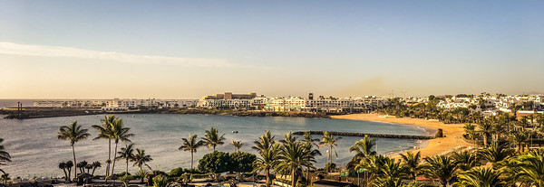 Costa Teguise - The beautiful Las Cucharas beach  Canvas print by Naylor's Photography