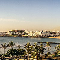 Buy canvas prints of Costa Teguise - The beautiful Las Cucharas beach  by Naylor's Photography